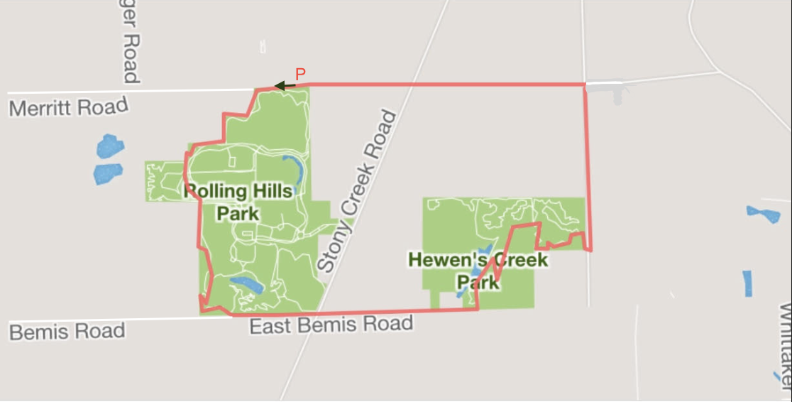 Rolling Hills CR course map
